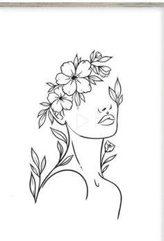 Art Drawings Sketches Simple, Pencil Art Drawings, Line Drawing Art, Line Drawings, Outline Art, Abstract Line Art, Diy Canvas Art, Minimalist Art, Embroidery Art