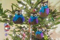Owl Family Felt Ornament Patterns