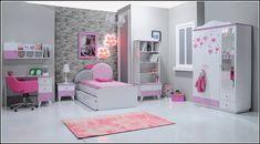 Kids Bed Design, Girls Room Design, Kids Bedroom Designs, Room Design Bedroom, Small Room Bedroom, Bedroom Decor, Modern Kids Bedroom, Kids Bedroom Sets, Rose Gold Room Decor