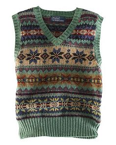 Ralph Lauren Childrenswear Boys' V-Neck Fair Isle Vest - Sizes 4-7 | Bloomingdale's