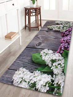 Flowers Indoor Outdoor Coral Velvet Area Rug
