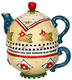 Mary Engelbreit Tea for One Teapot - Thank a Teacher
