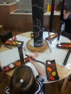 Provocation- Put simply, provocations provoke! They provoke thoughts, discussions, questions, interests, creativity and ideas. This activity might also be provoked by stories of the dreamtime - children could create their own story through their art.