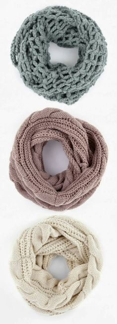 3 Different Infinity Scarf