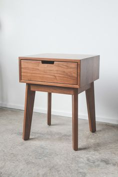 A handcrafted night stand, made in America using solid hardwoods and interlocking miter joints. #TRNK