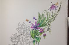 MAGICAL JUNGLE Johanna Basford - coloring with faber castell watercolor ...