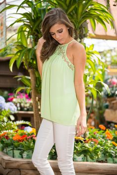 Be With Me Tank, Lime || You need this tank to be with you! Seriously! This lime green tank is where it's at! Whether you pair it with shorts, blue jeans, white jeans, whatever!