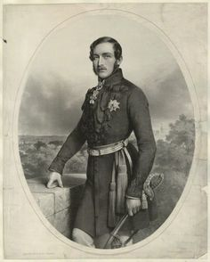 Prince Albert of Saxe-Coburg and Gotha. Lithograph by Charles Baugniet, 1851.