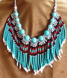 Native American style fringed beaded by MontanaTreasuresbyMJ, $60.00....just lovely! http://www.etsy.com/listing/91903955/native-american-style-fringed-beaded  And a shout out to @The Farmer's Trophy Wife for finding them!