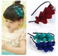 Quality 2016 children girl bows hair cute band baby girl headband kids headwear hair accessories with free worldwide shipping on AliExpress Mobile Hair Ribbons, Diy Hair Bows, Diy Bow, Diy Ribbon, Ribbon Hair, Ribbon Crafts, Ribbon Bows, Diy Crafts, Diy Headband