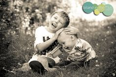 I love this shot of brothers having fun by Island in the Mist Photography