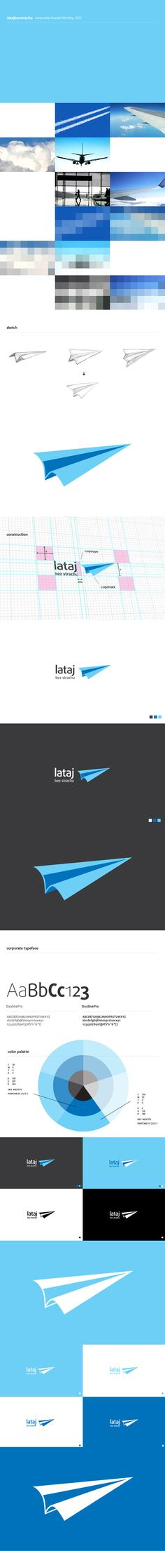 Logo design process for latajbeststrachu.pl