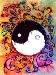 Ying-Yang by ursula Ying Yang Symbol, Ying Y Yang, Yin Yang Art, Yen Yang, Namaste, Yin Yang Balance, Indigo Children, Hippie Art, Hippie Style