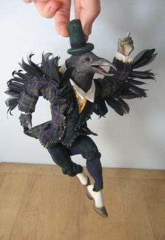 Anthropomorphic Crow Art Doll. $450.00, via Etsy.