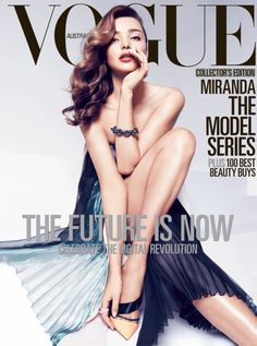 Miranda Kerr by Miguel Reveriego for Vogue Australia April 2013