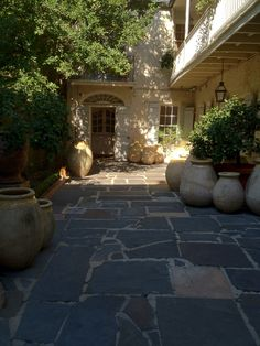 Royal Street courtyard of Antiques de Provence in New Orleans