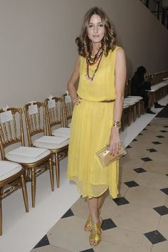 Topshop yellow midi dress. This chick can pull off anything!!!