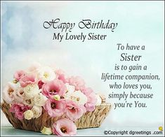 Awesome 19 Best Happy Birthday Sister Images Happy Birthday Sister Personalised Birthday Cards Paralily Jamesorg