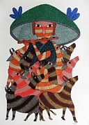 Gond Tribal Art Painting by Raju  Rajendra Shyam