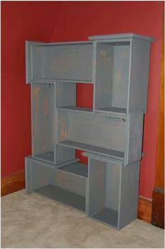 Creative dresser drawer bookshelf