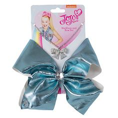 JoJo Siwa Metallic Faux Leather Bow And Necklace Set - Turquoise Jojo Hair Bows, Jojo Bows, Claire's Accessories, Girls Hair Accessories, Prayer For Daughter, To My Daughter, Big Bows, Cute Bows, Autumn Miller