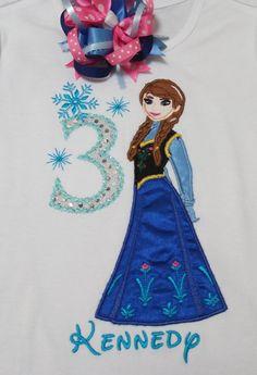 Elsa Frozen Snowflake White Peekaboo Ribbon Trim Tutu Birthday Outfit