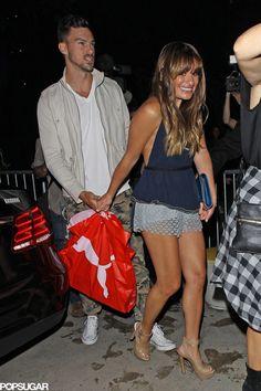 Lea Michele and Matthew Paetz.