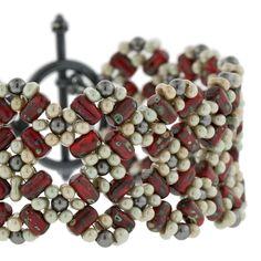 Cherry Blossom Lattice Bracelet | Fusion Beads Inspiration Gallery