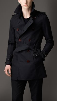 Burberry Mid-Length Cotton Gabardine Trench Coat