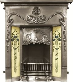 Valentine Full Polish Cast Iron Combination Fireplace,RX133,valentine,buy,sell,stock,for sale,cast,iron,fireplaces,combination,antique,cast ...