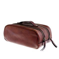 Montague leather travel kit