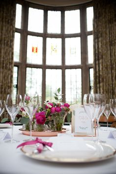 Elaborate Country wedding, Pink decor for wedding table decorations