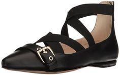 631a8e0f34d Nine West Women s Smoak Leather Ballet Flat Black Multi Size 7.5 4Lwm   fashion