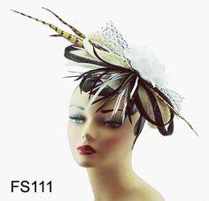 So Splendid Feather Flower Cocktail Hat Hair Clip Headband Fascinator