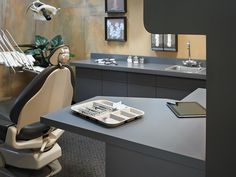 Formica® ColorCore2™ 912 Storm in this dental office