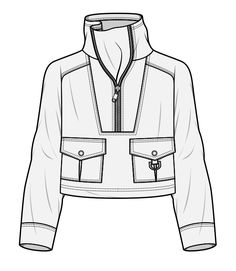 Sport jacket must have wgsn fashion sketchbook, fashion sketch Fashion Flats, Fashion Art, Paper Fashion, Drawing Fashion, Flat Drawings, Technical Drawings, Motifs Islamiques, Clothing Sketches, Dress Sketches