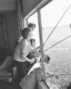 The Beatles fishing from their hotel suite window - 1964, Seattle