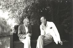 Cy twombly and Leo Castelli