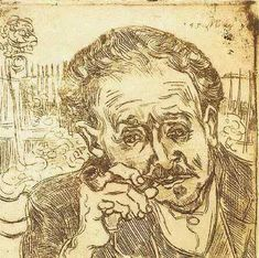 Vincent van Gogh: The Etching (Portrait of Doctor Gachet: L'Homme à la Pipe). Unless otherwise stated, the impressions are in black and have not been touched up.