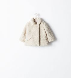 SHEARLING THREE-QUARTER LENGTH COAT from Zara