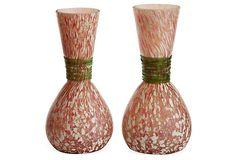 Confetti Art Glass Bud Vases, Pair on OneKingsLane.com