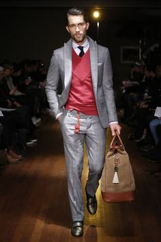 Michael Bastian RTW Fall 2014 - Slideshow - Runway, Fashion Week, Fashion Shows. Fashion Images, Look Fashion, Autumn Fashion, Mens Fashion, Runway Fashion, Michael Bastian, Suit Up, Suit And Tie, Sharp Dressed Man