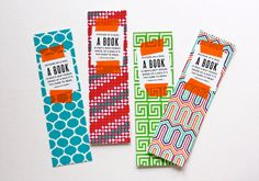 Make bookmarks with tape | How About Orange