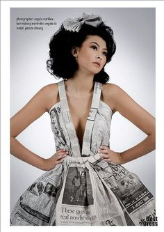 . . . . . How to Recycle: Recycled Newspaper Dresses
