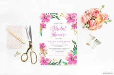 BRIDAL SHOWER INVITATION  douche nuptiale par blushprintables