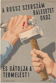 TÖRTÉNELMI KALEIDOSZKÓP...: MUNKAVÉDELMI PLAKÁTOK.../ Többi képért katt a posztra ! Vintage Advertisements, Vintage Ads, Vintage Posters, Budapest, Restaurant Pictures, Propaganda Art, School Posters, Old Ads, Retro Art