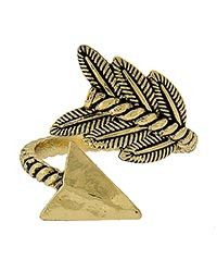Feather Arrow Adjustable Ring