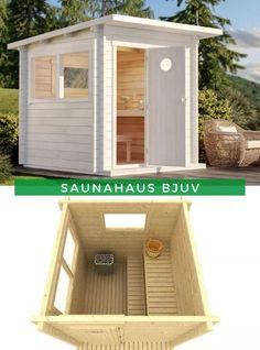 Sauna außen: Lust auf eine helle und frische Gartensauna? Dann ist unser Saunahaus Bjuv wie für Sie gemacht! Auf einer Größe von 4 m² mit zwei Sitzbänken besticht dieses Schmuckstück durch sein modernes Design. Entscheiden Sie sich jetzt für dieses Modell und genießen Sie schon bald einen erholsamen Saunagang! Outdoor Furniture, Outdoor Decor, Outdoor Storage, Shed, Outdoor Structures, Garden, House, Home Decor, Contemporary Design