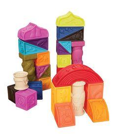 Look at this #zulilyfind! Elemenosqueeze Blocks by B. Toys #zulilyfinds