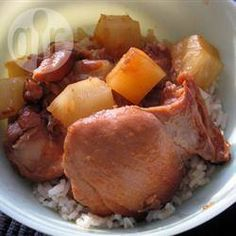 Slow cooker honey ginger chicken thighs @ allrecipes.co.uk